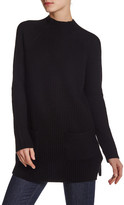 Chaus Mock Neck Pocket Sweater