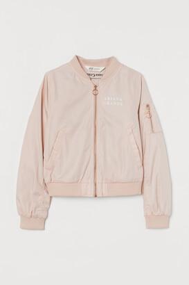 H&M Printed bomber jacket