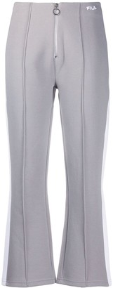 Fila Cropped Zip Front Track Trousers