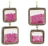 Moritz Glik Floating Ruby & Sapphire Drop Earrings