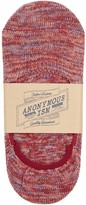 Anonymous Ism Red Marl-knit Cotton Blend Socks