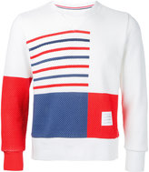 Thom Browne stripe and square sweater - men - Cotton - 2