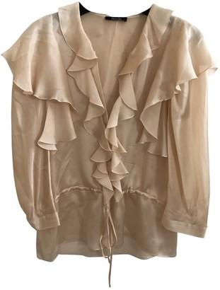 Freda Beige Silk Top for Women