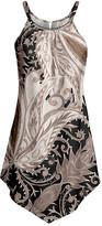 Lily Women's Tunics BLK - Black & Beige Floral Point-Hem Sleeveless Tunic - Women & Plus
