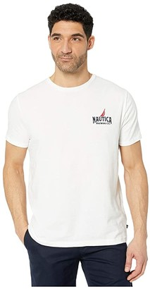 Nautica Short Sleeve Graphic Tee (White) Men's Clothing