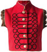 La Condesa - Jimy cropped vest - women - Polyester/Viscose/Wool - 40