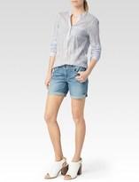 Paige Prescott Shirt - White & Seagull Blue Stripe