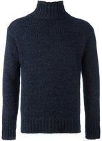 Boglioli ribbed roll neck jumper