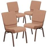 Church's MacArthur Chair Ebern Designs Seat Finish: Brown