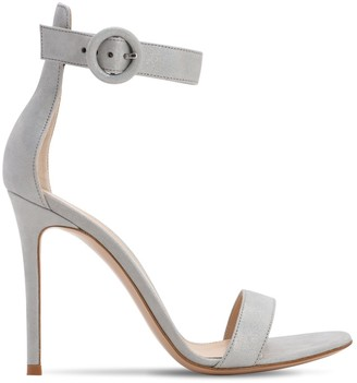 Gianvito Rossi 105mm Portofino Lame Leather Sandals