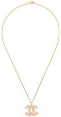 Chanel Pre Owned 2002 rhinestone CC necklace