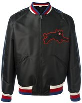 Gucci panther embroidery satin jacket