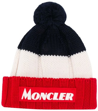 Moncler knitted stripe hat