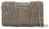 Sondra Roberts Metallic Pleated Convertible Clutch