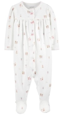 Carter's Baby Girls Cotton Character Friends Footed Pajamas