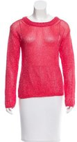 Alice + Olivia Crew Neck Open Knit Sweater