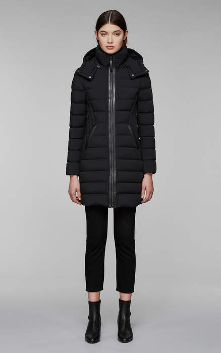 Mackage FARREN lightweight down coat with removable hood