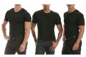 Instaslim Men's Big & Tall Insta Slim 3 Pack Compression Short Sleeve Crew-Neck T-Shirts