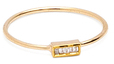 Maiyet 18K Yellow Gold & 0.07 Total Ct. Baguette Diamond Stackable Ring