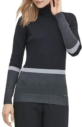 Calvin Klein Color-Block Turtleneck Sweater