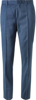 HUGO BOSS Blue Genius Slim-Fit Super 120s Virgin Wool Suit Trousers