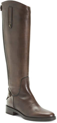 Made In Italy Leather Knee High Riding Boots