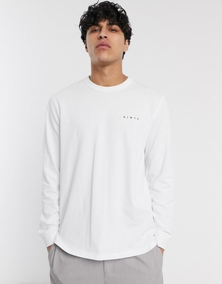 ASOS loose fit long sleeve t-shirt with logo print