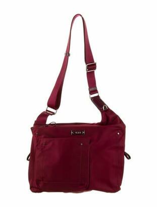 Tumi Nylon Crossbody Bag Silver