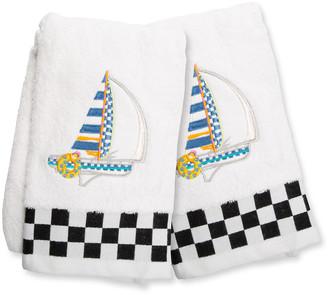 Mackenzie Childs Sail Away Hand Towels Set of 2