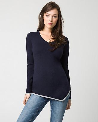 Le Château Cotton Blend V-Neck Sweater
