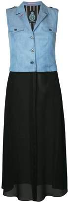 GUILD PRIME sleeveless contrast dress