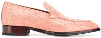 Giuseppe Zanotti Croc-Effect Loafers