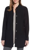 Eileen Fisher Women's Mandarin Collar Knit Jacket