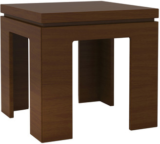Manhattan Comfort Bridge 21In Square Length Modern Nut Brown Accent End Table