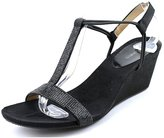 Style&Co. Style & Co. Women's Mulan Embossed T-Strap Wedge Sandal