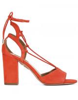 Aquazzura chunky heel lace-up sandals