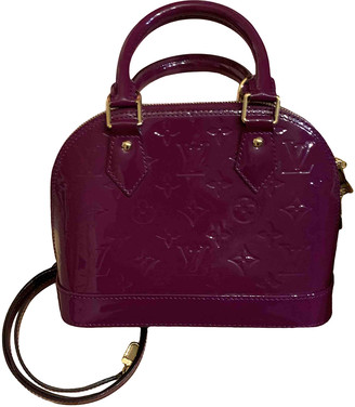 Louis Vuitton Alma BB Purple Patent leather Handbags