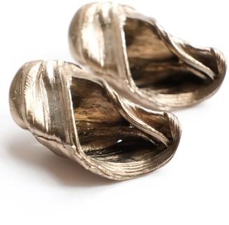 Be. Alice Whirlpool Stud Earrings In White Bronze