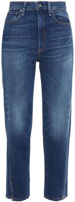 Rag & Bone Cropped Faded High-rise Slim-leg Jeans