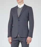 Reiss Reiss Kamara B - Wool Slim Blazer In Blue, Mens