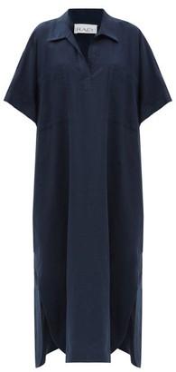 Raey Patch-pocket Linen Smock Dress - Navy