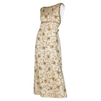 N. Non Signé / Unsigned Non Signe / Unsigned \N Gold Polyester Dresses