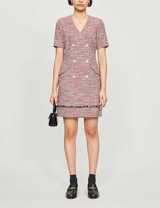 Claudie Pierlot Ramie cotton-blend dress