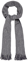 Red Herring Navy And Grey Reversible Scarf