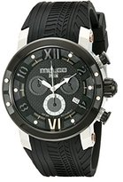 Mulco Men's MW5-3219-025 Prix Tire Analog Display Swiss Quartz Black Watch