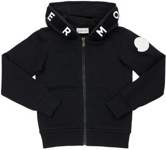 Moncler Zip-Up Cotton Sweatshirt Hoodie