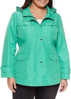 Details Hooded Anorak Raincoat - Plus
