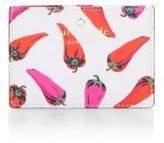 Kate Spade Hot Pepper Texture Woven Card Case