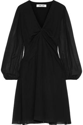 Diane von Furstenberg Kala Twist-front Chiffon Dress