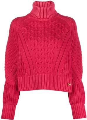 Elisabetta Franchi cropped turtleneck jumper